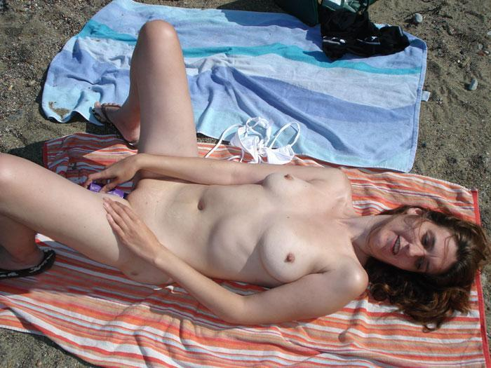 Nude amateurs on beach